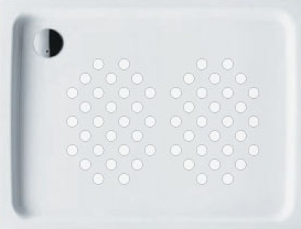 Large shower tray showing 2 packs of Anti Slip Shower Stickers