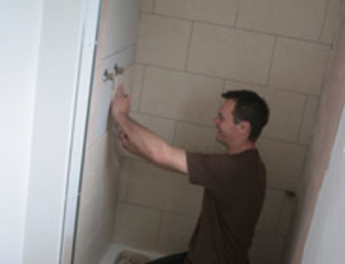 Plumbers offer non slip sticker service