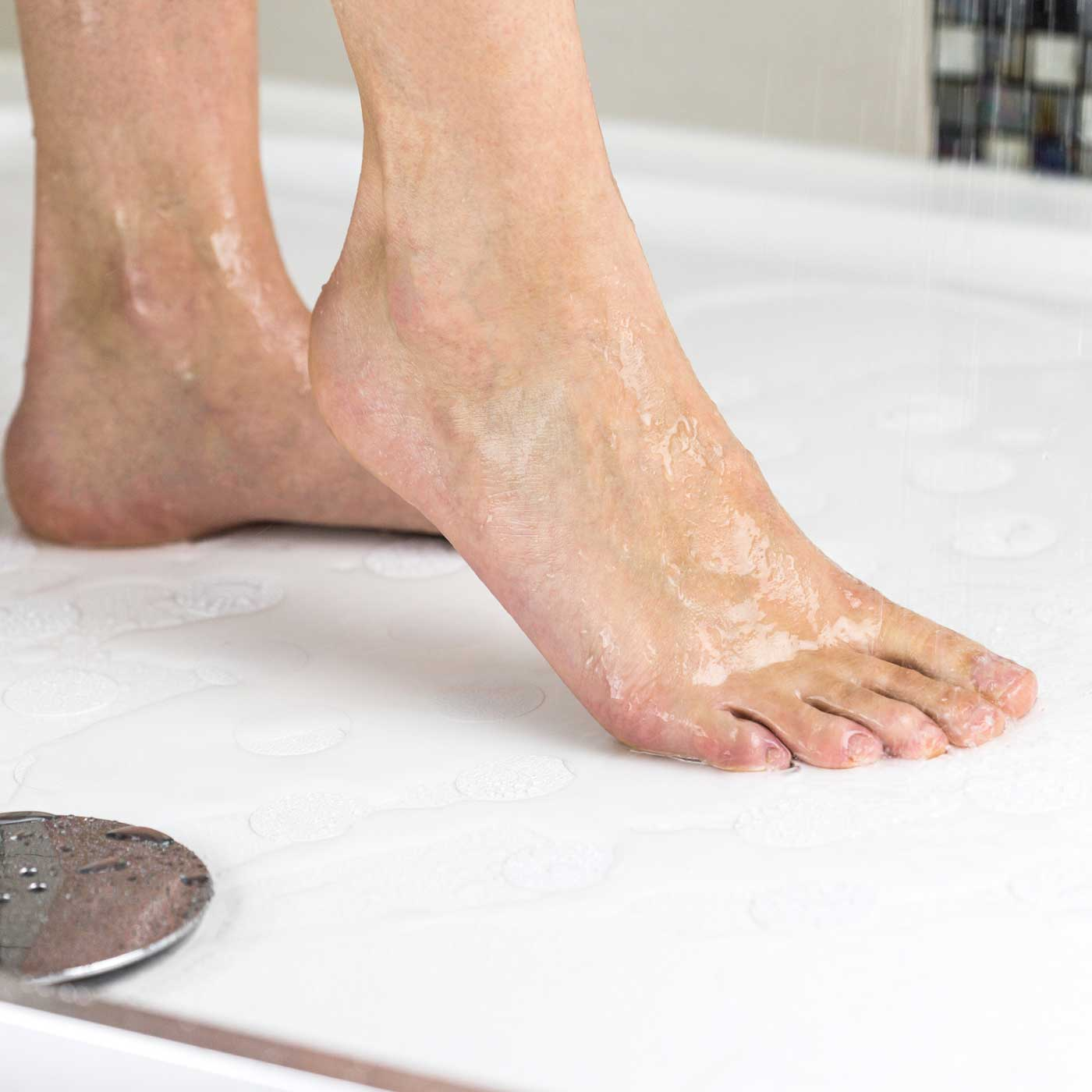 Non slip bath stickers help prevent slips